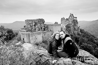 Před hradem Aggstein